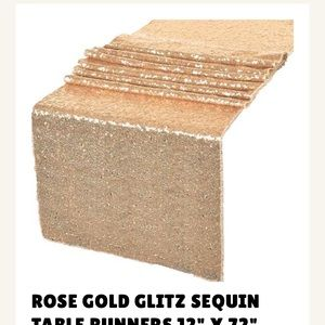 Other - 15 rose gold sequin table runners